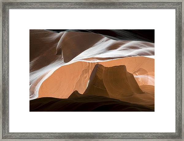 Antelope Canyon Desert Abstract Framed Print