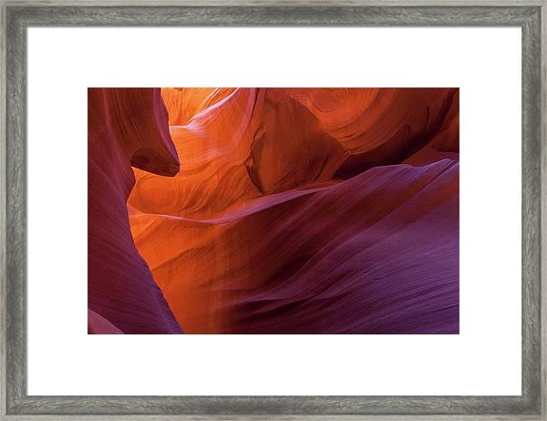 Antelope Canyon Fire Framed Print