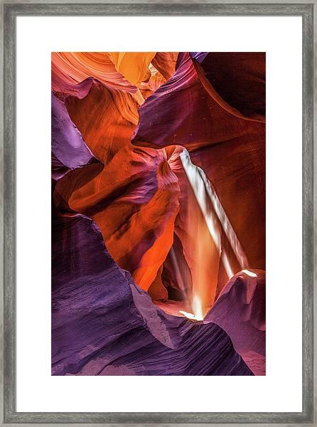 Antelope Canyon Lightshaft 3 Framed Print
