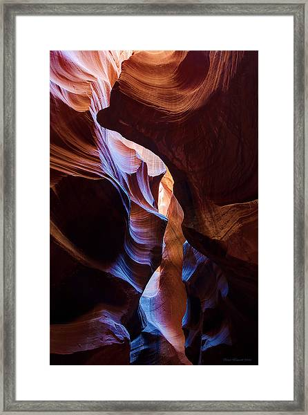 Antelope Canyon Squeeze Framed Print
