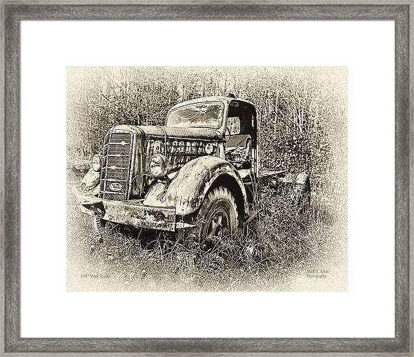 Antique 1947 Mack Truck Framed Print