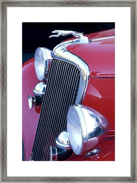 Antique Car Hood Ornament Framed Print