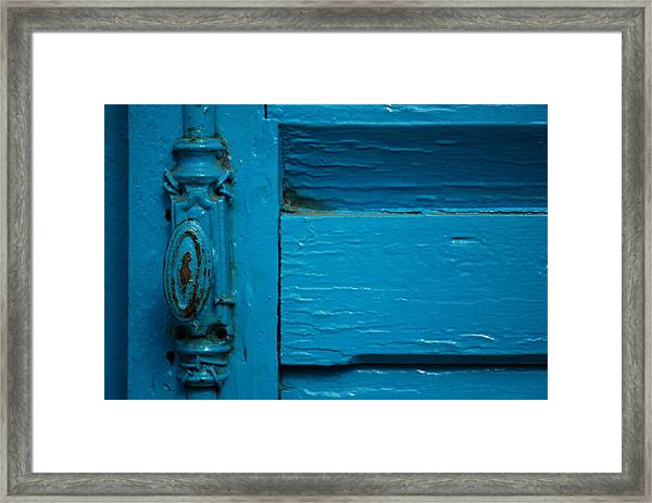 Antique Doorknob Framed Print