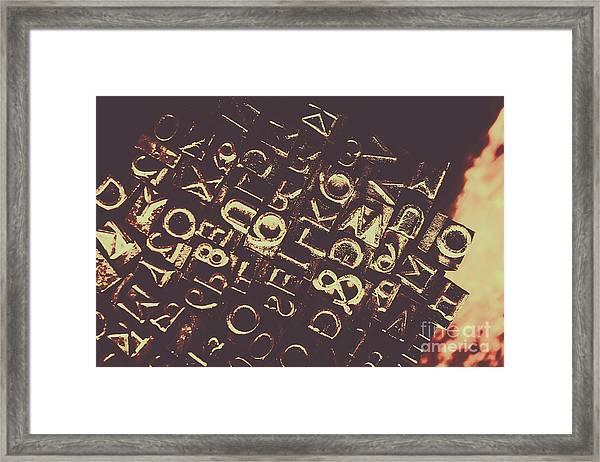 Antique Enigma Code Framed Print