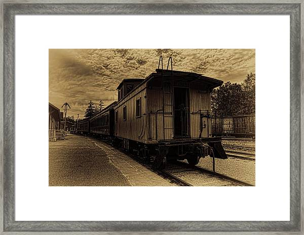 Antique Iron Range Caboose Framed Print