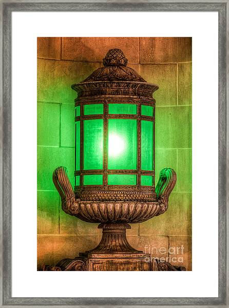 Antique Lantern Framed Print
