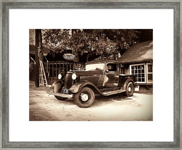 Antique Road Warrior - 1935 Dodge Framed Print