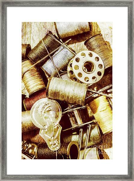 Antique Sewing Artwork Framed Print