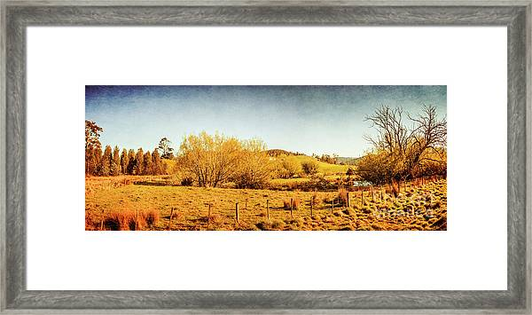 Antique Weathered Countryside Framed Print