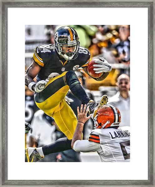 Antonio Brown Steelers Art 5 Framed Print