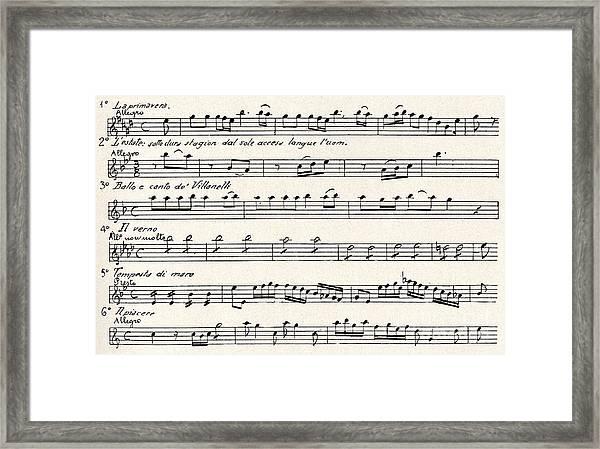 Antonio Vivaldi  The Four Seasons Framed Print