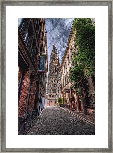 Antwerp Cathedral Framed Print
