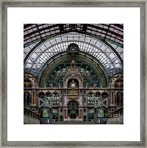 Antwerp Train Terminal Framed Print