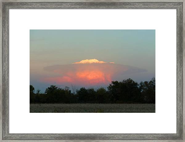 Anvil Cloud Over Kirksville, Mo Framed Print