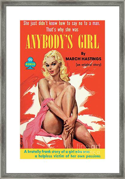 Anybody's Girl Framed Print