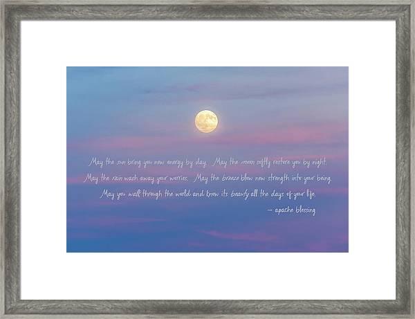 Apache Blessing Harvest Moon 2016 Framed Print