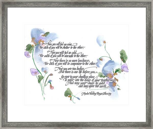 Apache Wedding Prayer Blessing Framed Print