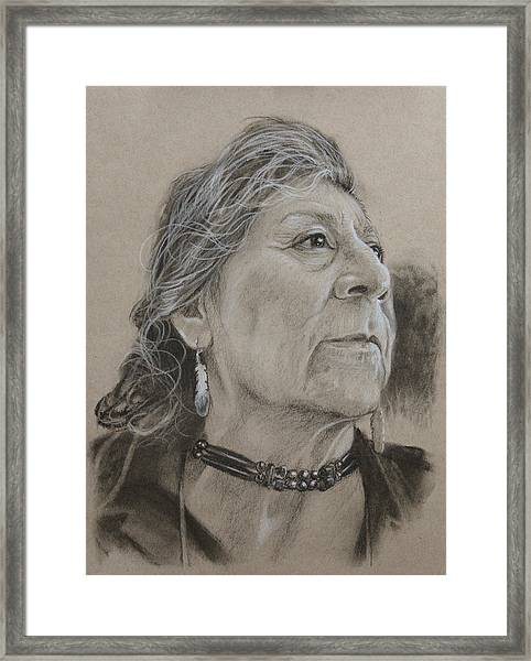 Apache Woman Framed Print