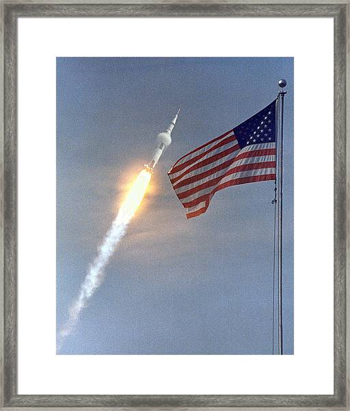 Apollo 11 Launch Framed Print