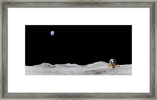Apollo 15 Landing Site Panorama Framed Print