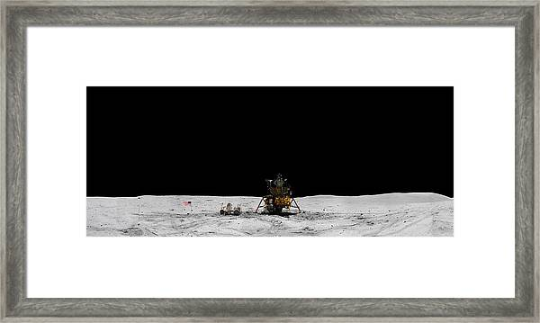Apollo 16 Landing Site Panorama Framed Print