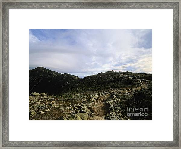 Appalachian Trail - Mount Lincoln - White Mountains New Hampshire Usa Framed Print