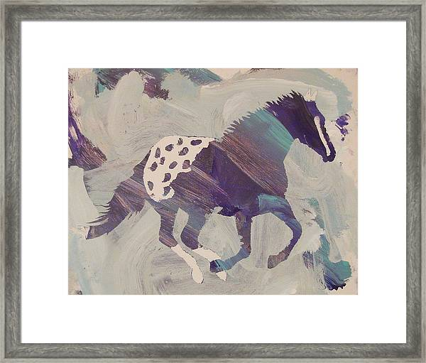 Framed Print featuring the painting Appaloosa Dreams by Candace Shrope