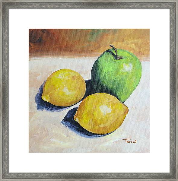 Apple And Lemons Framed Print