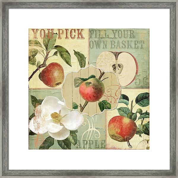 Apple Blossoms Patchwork IIi Framed Print