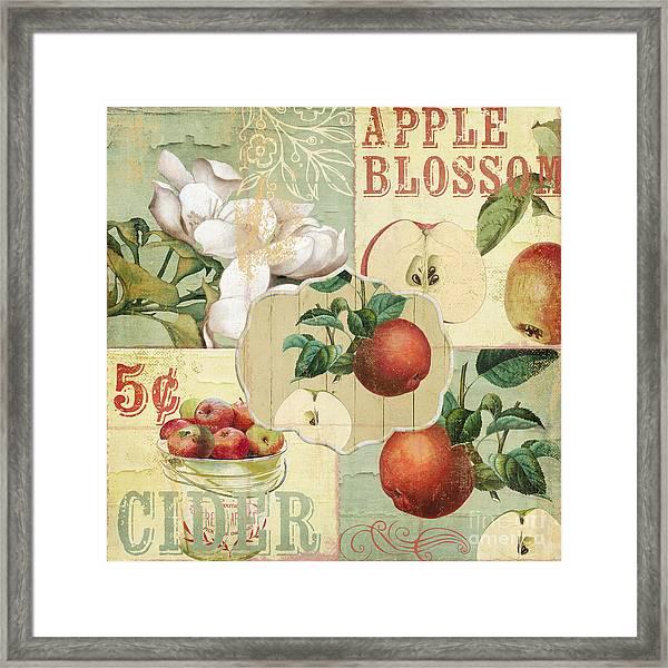 Apple Blossoms Patchwork Iv Framed Print