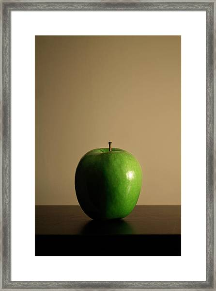 Framed Print featuring the photograph Apple by Break The Silhouette