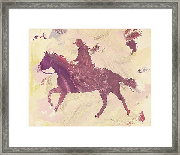 Framed Print featuring the painting Apple Cowgirl by Candace Shrope