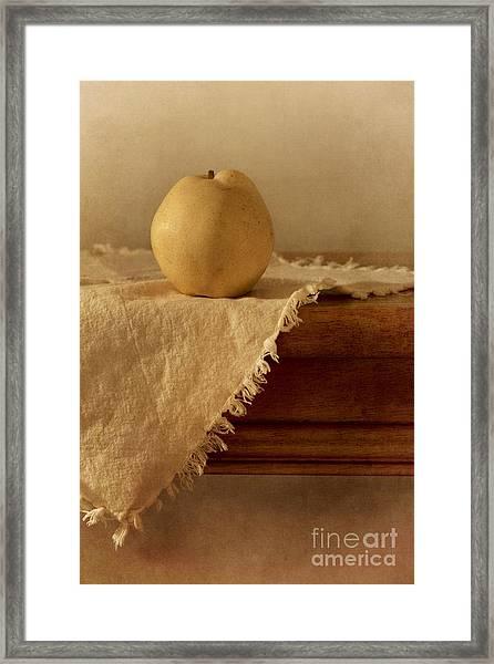 Apple Pear On A Table Framed Print