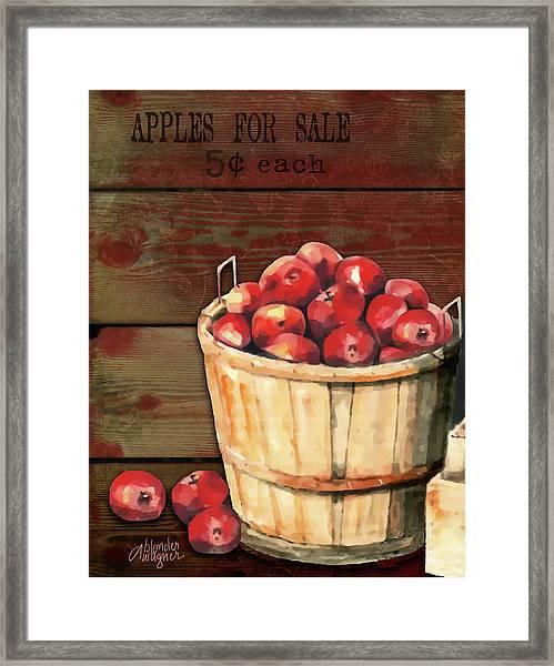 Apples For Sale Framed Print