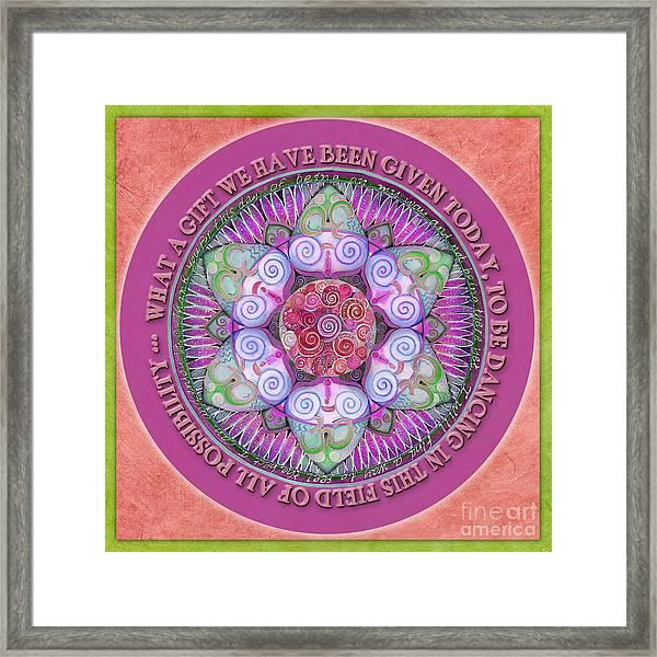 Appreciation Mandala Prayer Framed Print