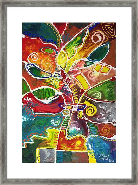 April Bouquet Framed Print