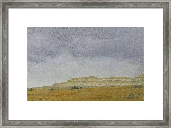 April In The Badlands Framed Print