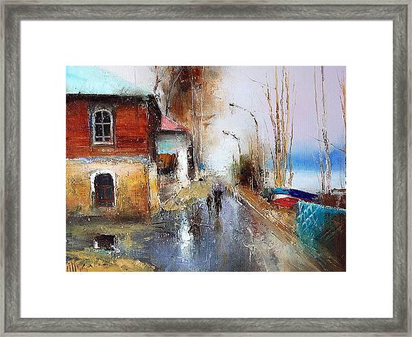 April. The River Volga Framed Print