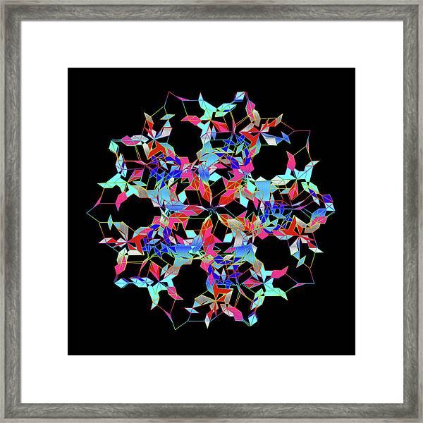 Aqua Extreme Mandala Framed Print