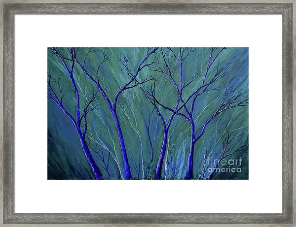 Aqua Forest Framed Print