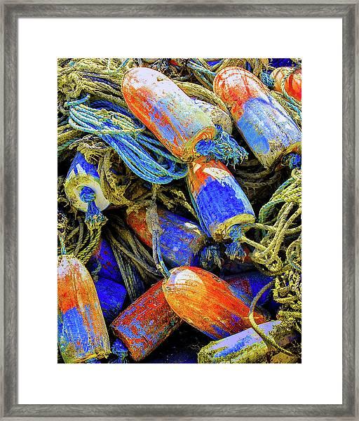 Aqua Hedionda Framed Print