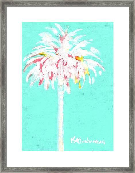 Aqua Marine Palm Framed Print