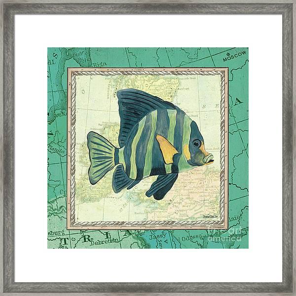 Aqua Maritime Fish Framed Print