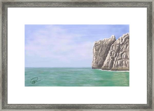 Aqua Sea Framed Print
