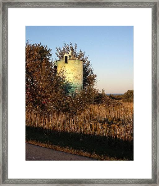 Aqua Silo Framed Print