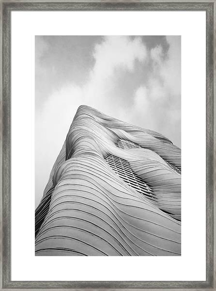 Aqua Tower Framed Print