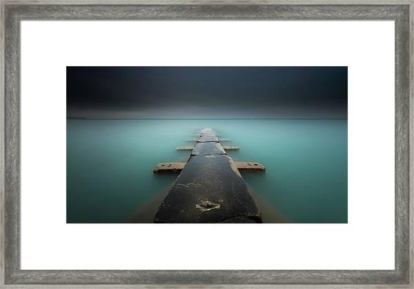 Aqua Velvet Framed Print