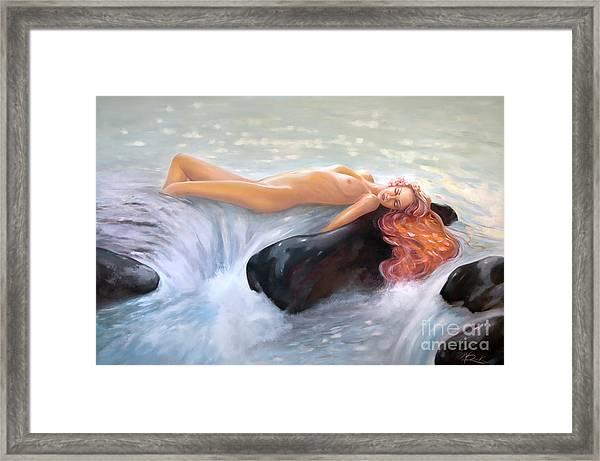 Aquamarine Sea Goddess Framed Print
