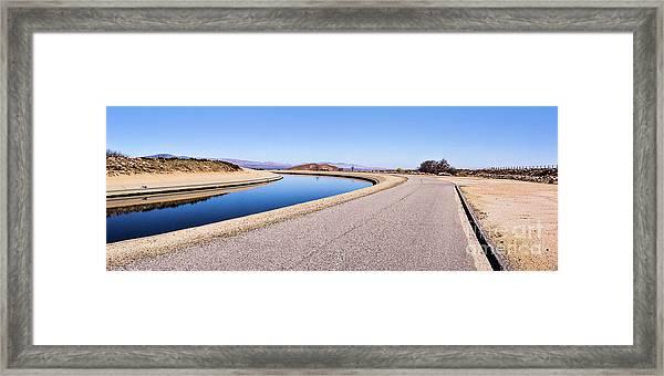 Aqueduct Sharp Turn Framed Print