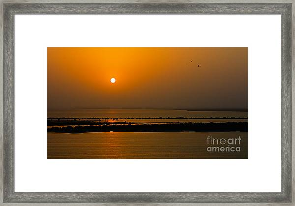 Arabian Gulf Sunset Framed Print